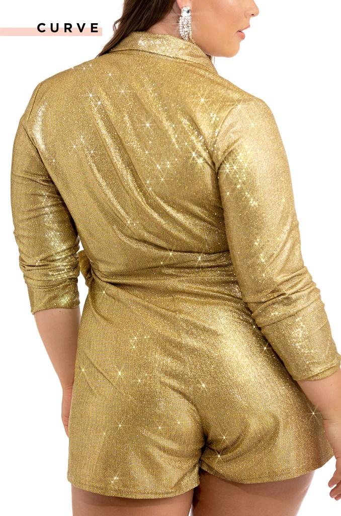 VIP View Romper - Gold