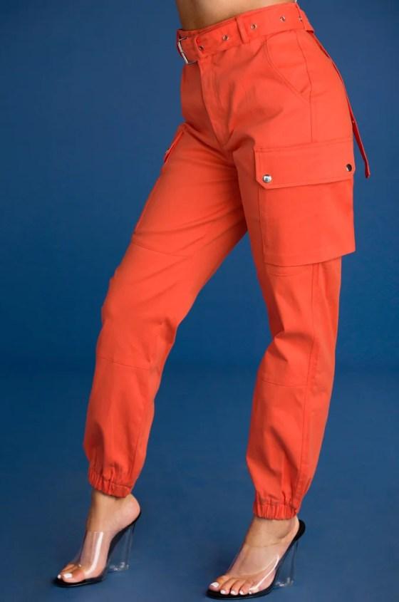 Style & Go Cargo Pant - Orange 9