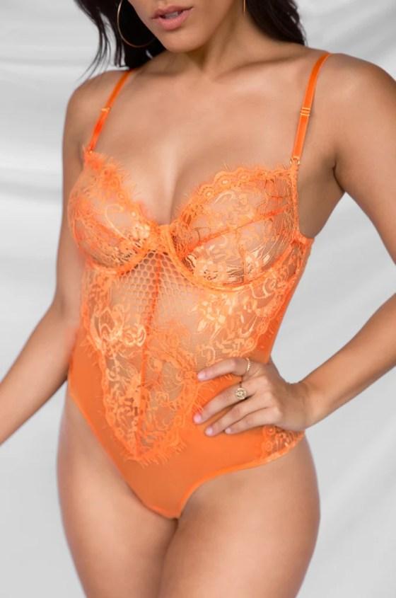 Risque Bodysuit - Orange 8