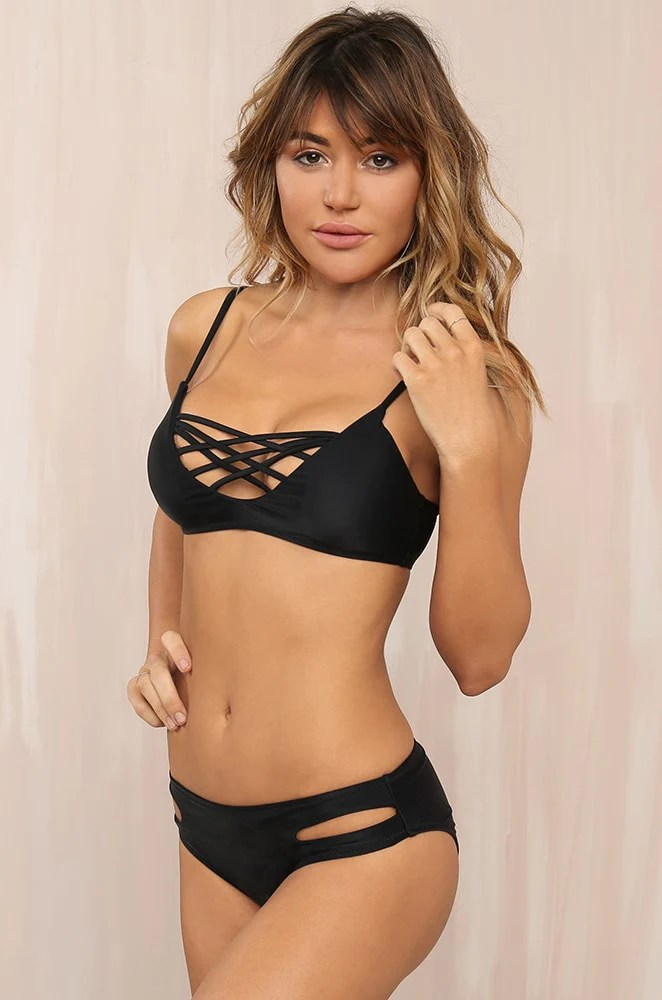 Buns Out Bikini Set - Black 10