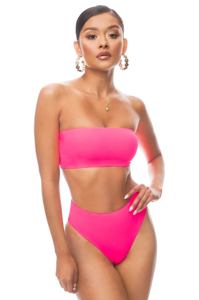 Private Island Bikini Set - Neon Pink 13