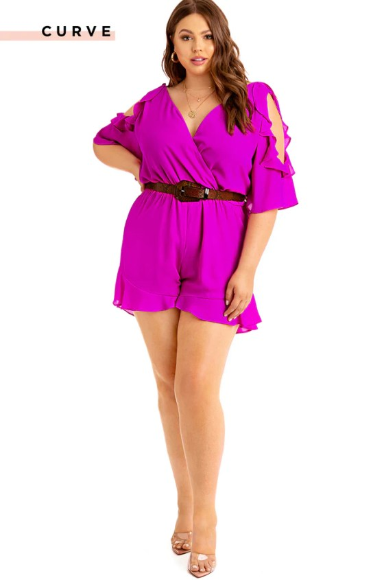 One And Only  Romper - Hot Pink 2