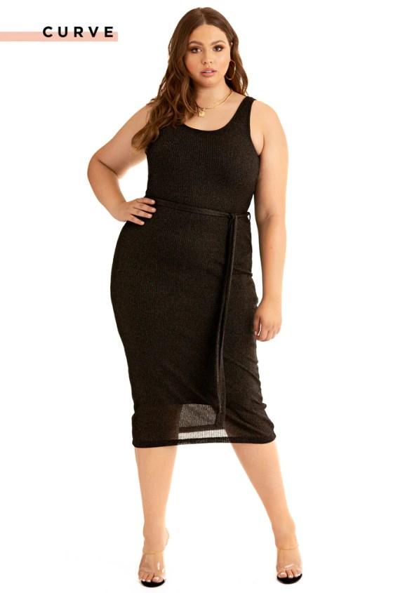 Feelin A Spark Dress - Black 4