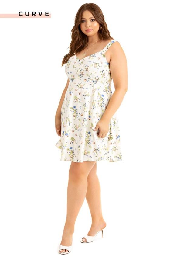 Summer Delight Dress - White Floral 2