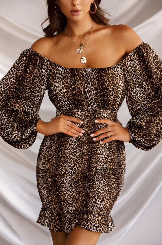 Wild Thoughts Dress - Leopard 2
