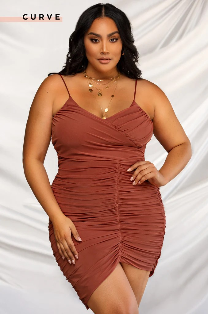 Second To None Dress - Rust 14