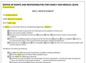 Editable FMLA Forms – Leave Solutions