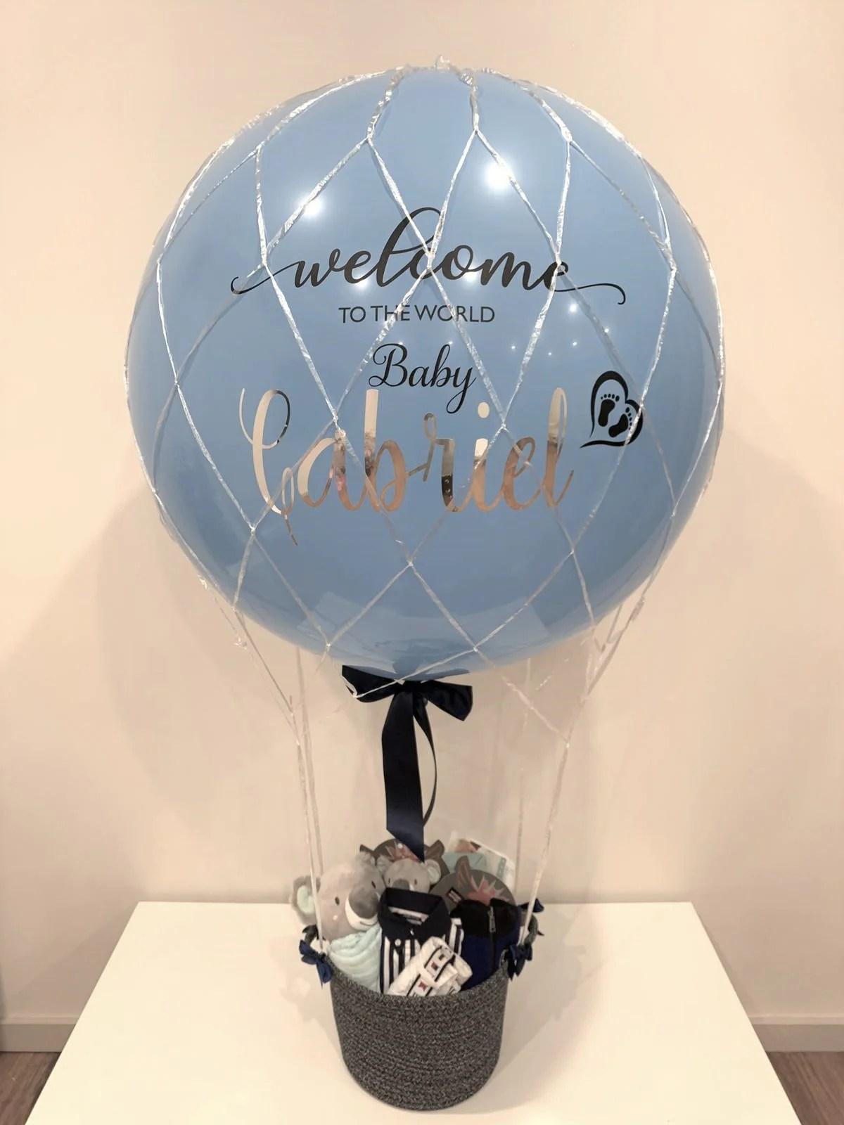Hot Air Balloon Gift Basket : balloon, basket, Helium, Balloon, Basket, Balloonit