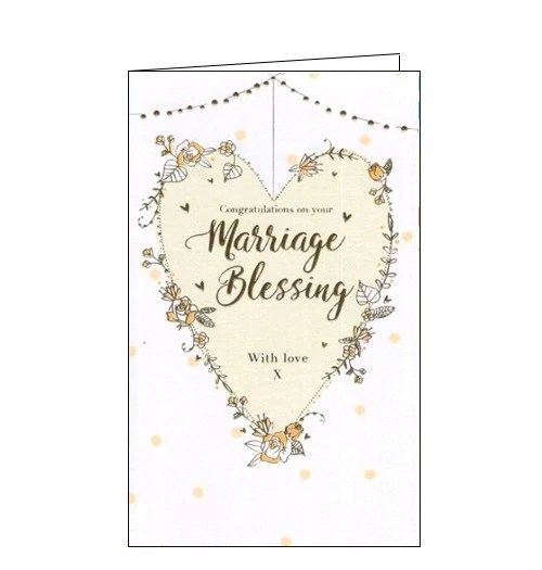 Congratulations On Your Marriage Blessing Card Nickery Nook