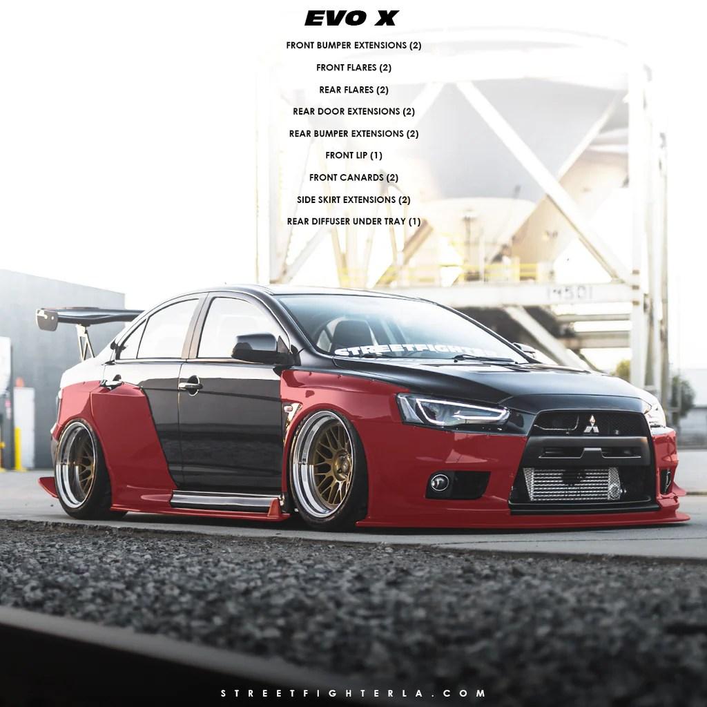 medium resolution of evo x wide body kit