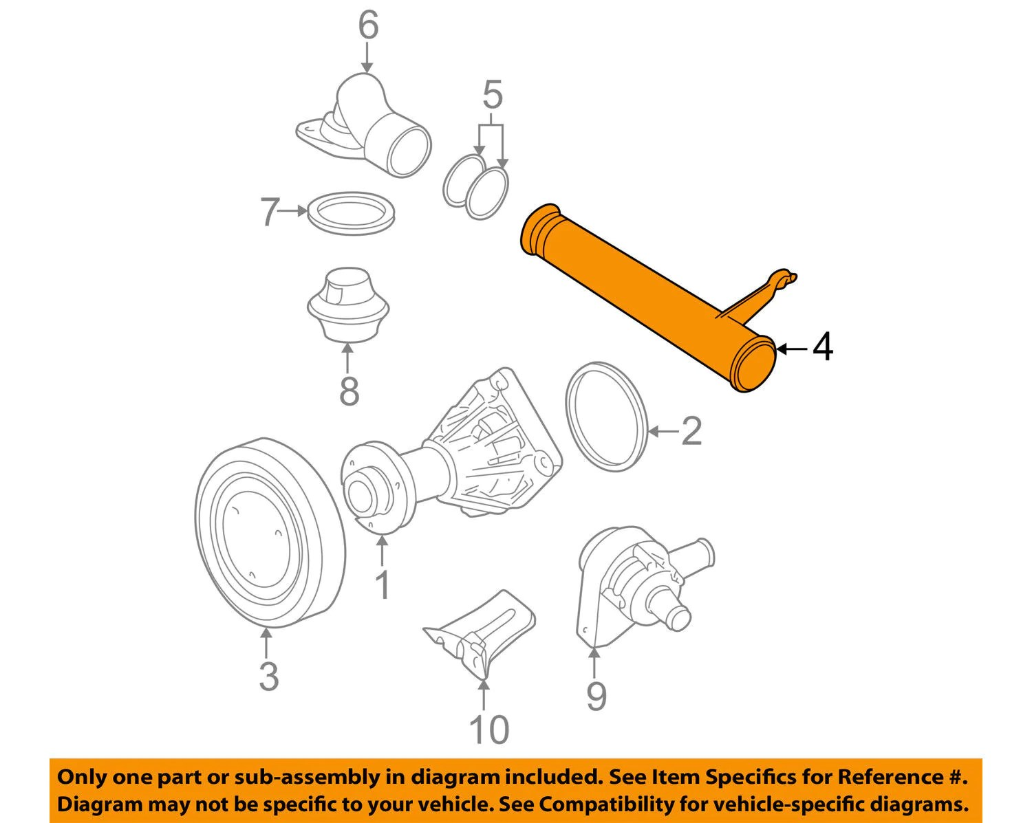 small resolution of  cadillac catera cts saturn vue l ls lw series thermostat housing tube