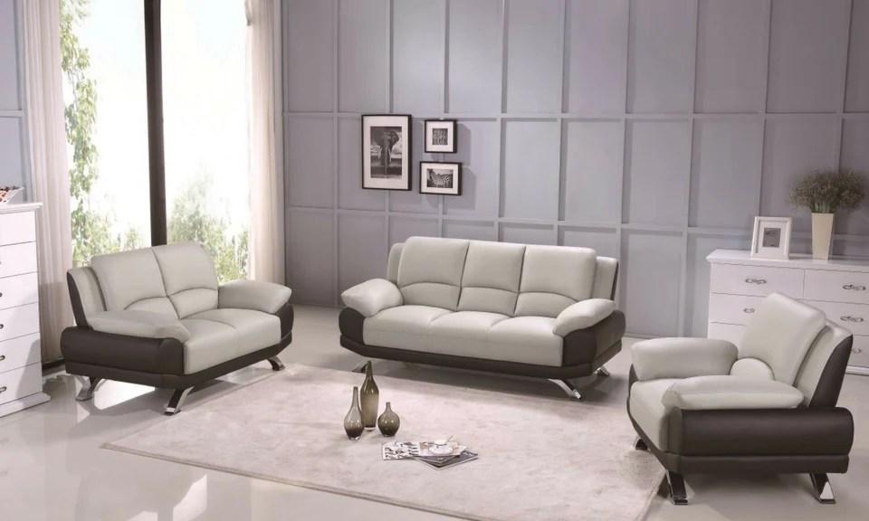 color sofa kyoto chicago bed 117 light gray black set mod furniture