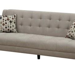 Oatmeal Sofa Twin Sleeper Memory Foam Mid Century Style 1128 S Mod Furniture