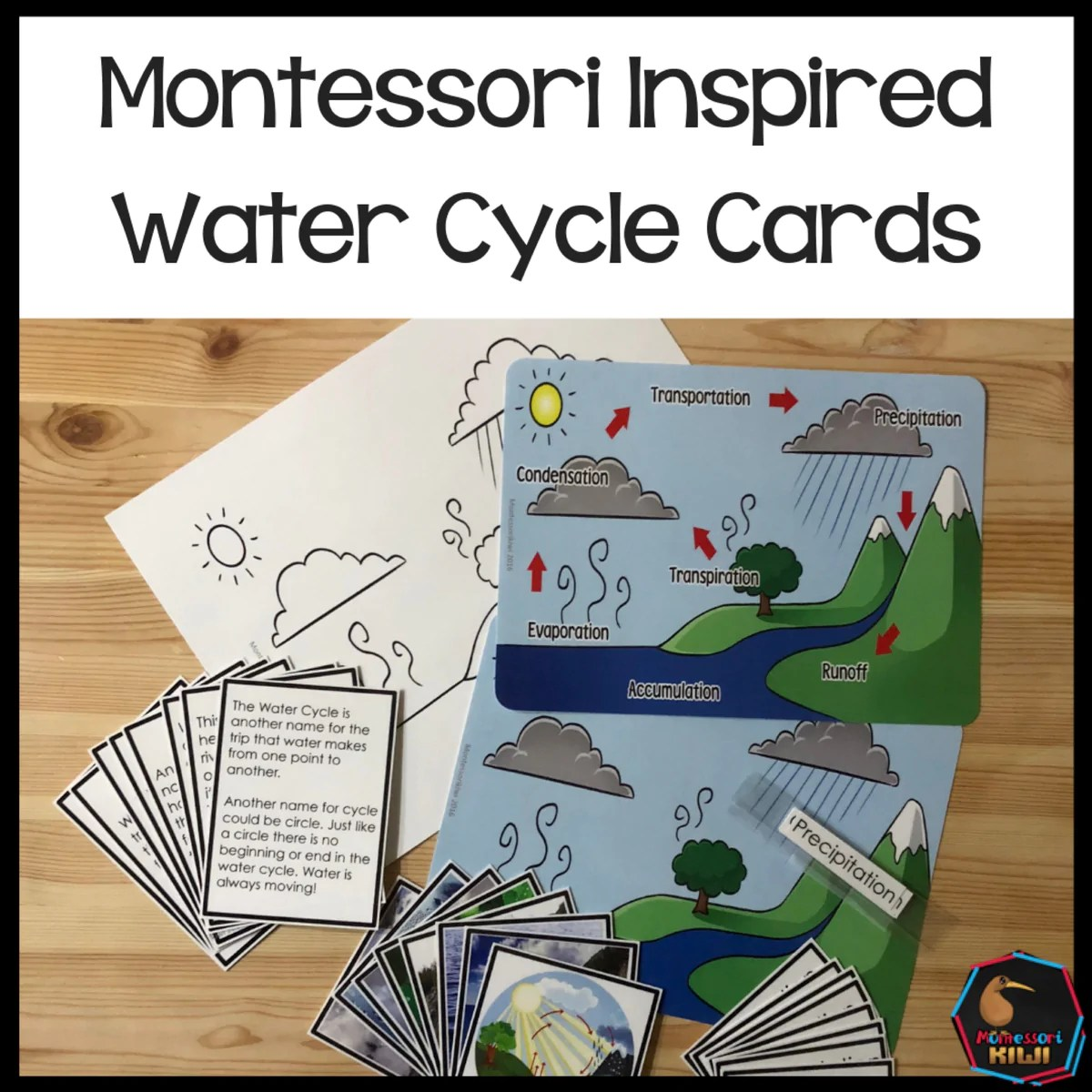 hight resolution of water cycle 3 part cards shop montessori resources toys puzzles and more