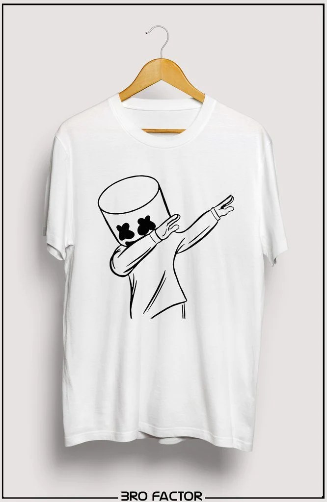 b6954a3b8a4d7 95 Buy Dab Marshmello Printed 3 4 Sleeve T Shirt For Women Online -  marshmallow dab