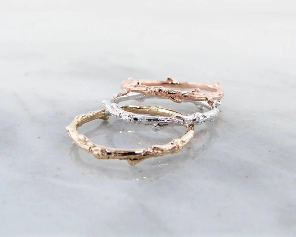 rose gold ring twig