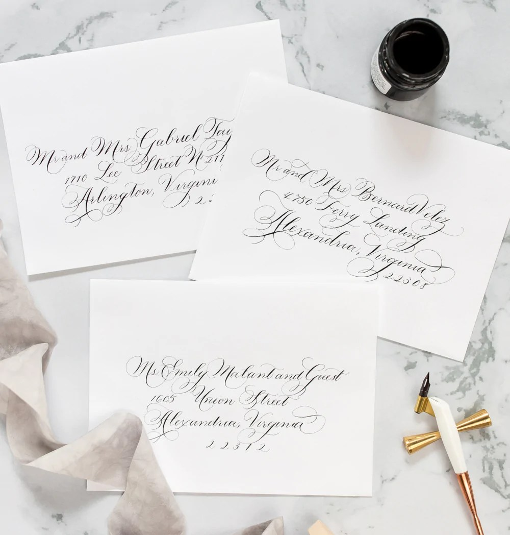 Whether you've been writing for decades or are looking to. Custom Wedding Calligraphy Services   Laura Hooper Calligraphy