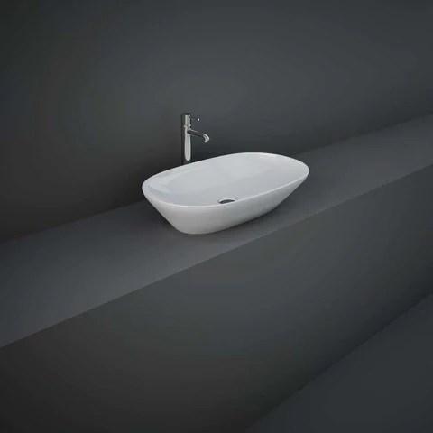 rak variant elongated oval counter top wash basin 60cm