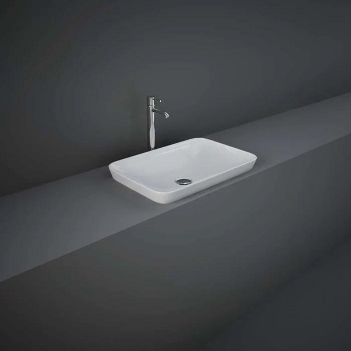 rak variant rectangular drop in wash basin 55cm