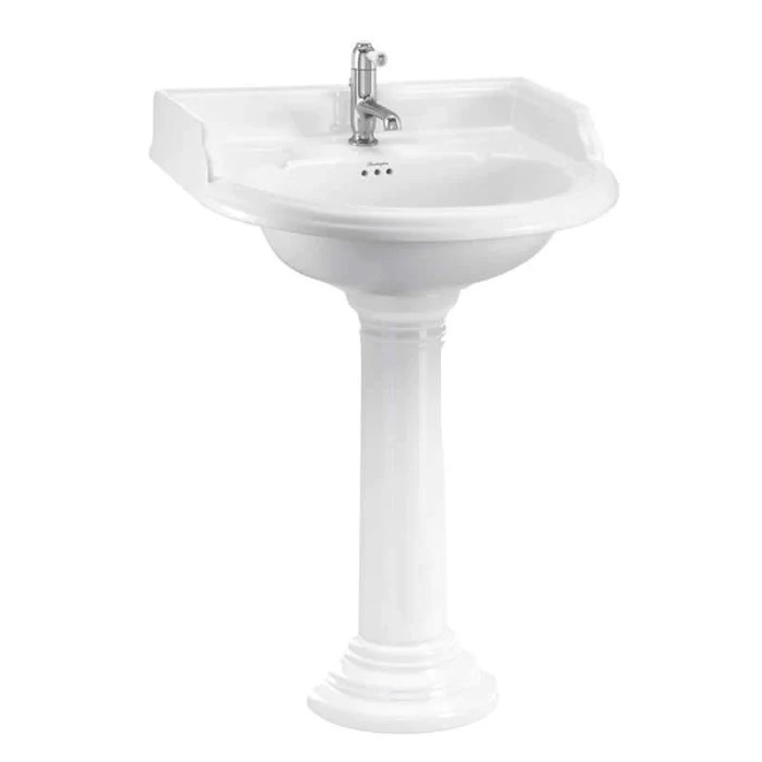burlington classic 65cm round basin and regal round pedestal