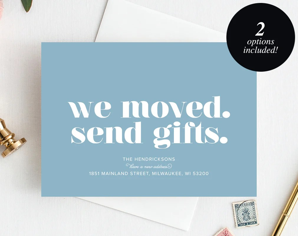 moving announcement printable we