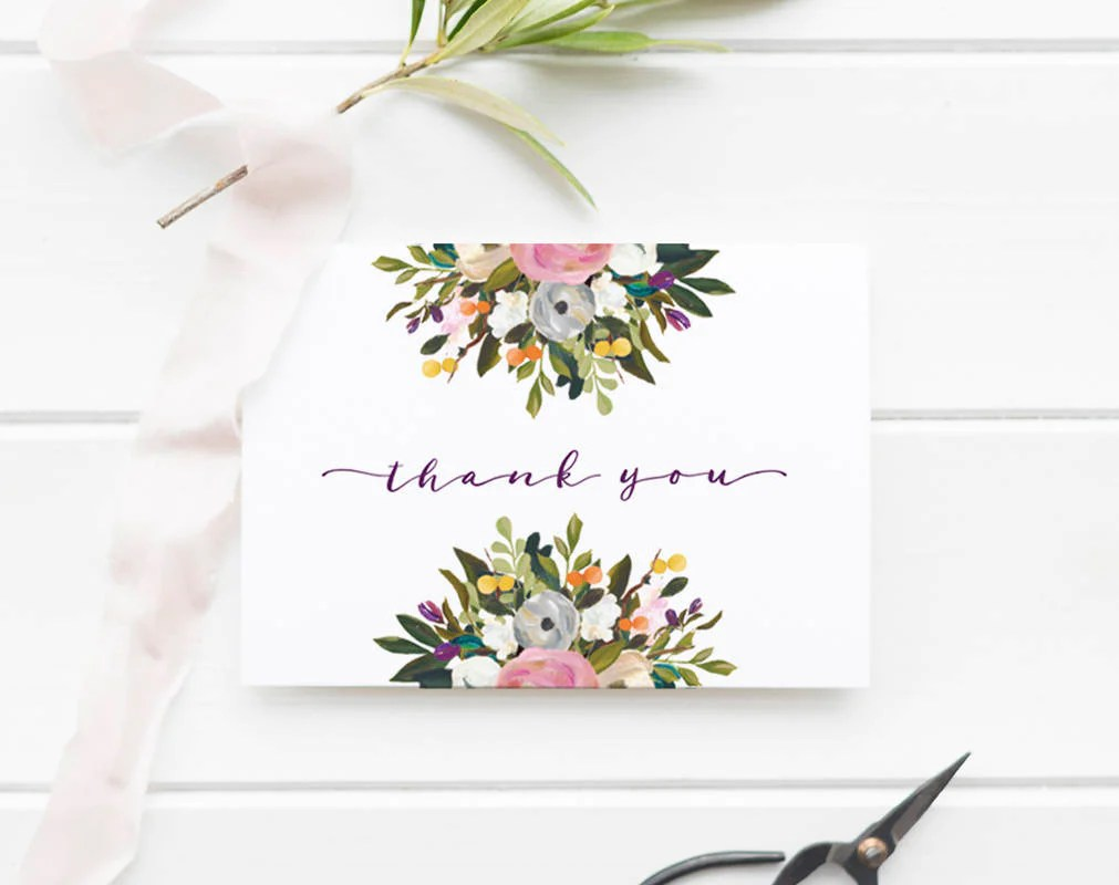 Baby Shower Thank You Cards, Thank You Notes, Thank You Card, Thank you