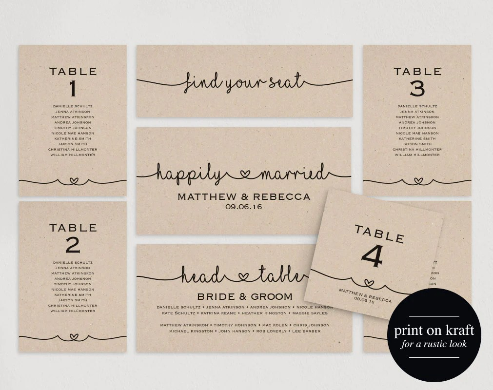 Wedding seating chart plan template diy printable pdf table cards also rh blisspaperboutique