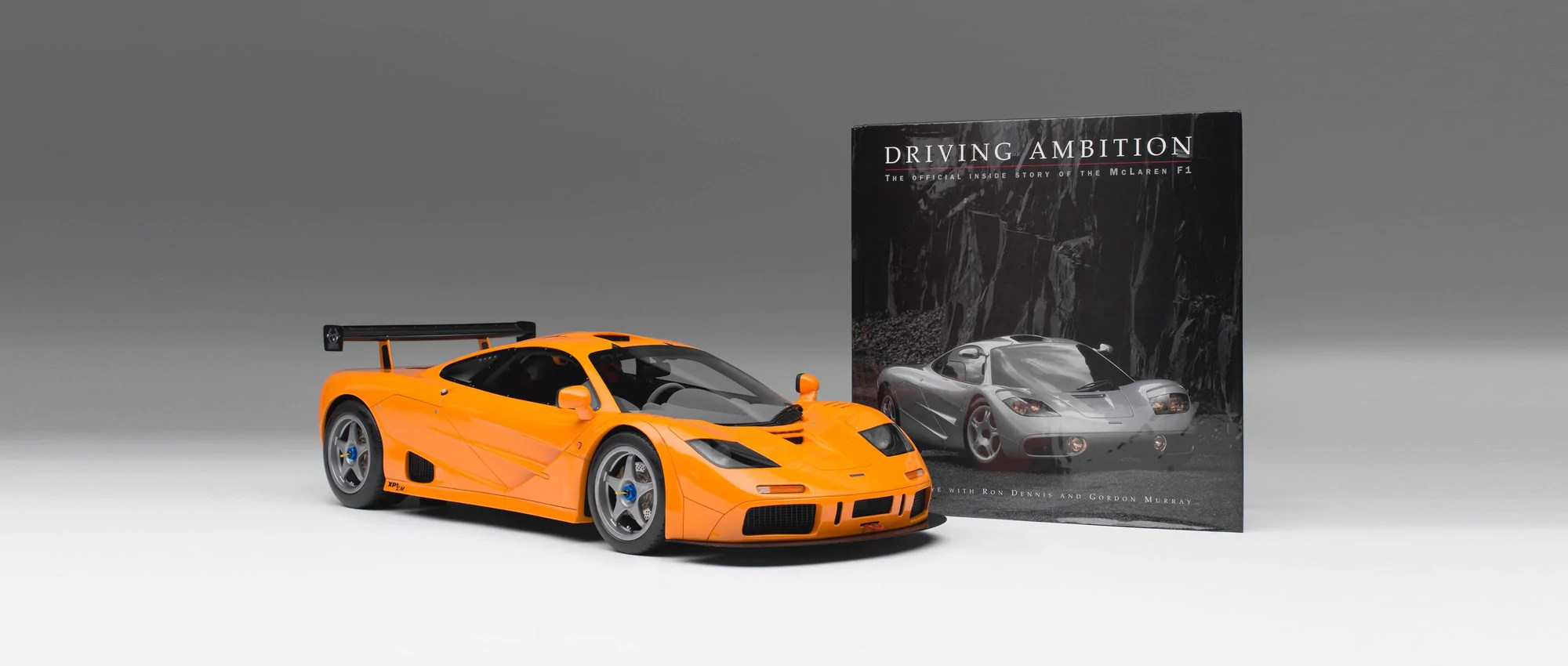 mclaren f1 lm gordon murray signed copy of driving ambition  [ 2000 x 850 Pixel ]