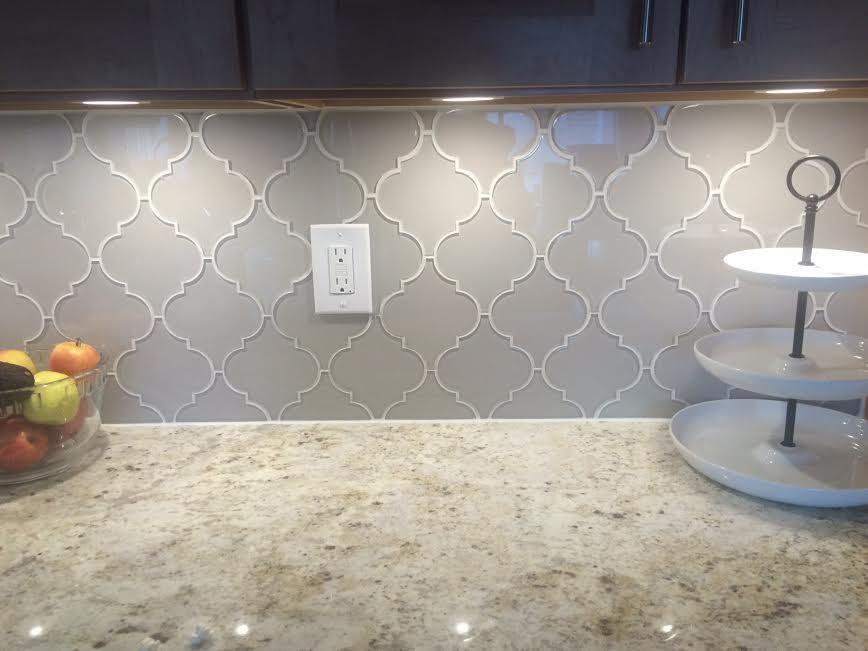 country cottage arabesque glass mosaic tiles