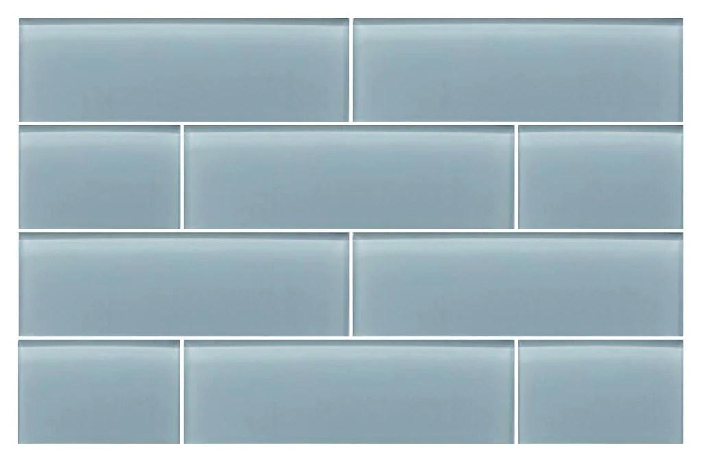 jasper blue grey 4x12 glass subway tiles