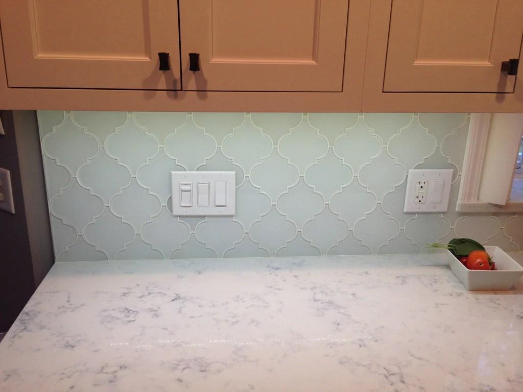 snow white arabesque glass mosaic tiles