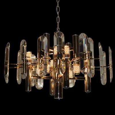 crystallic shield shielded bulbs modern chandelier