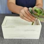 Make A Gorgeous Planter Box Succulents Centerpiece Balsacircle Com