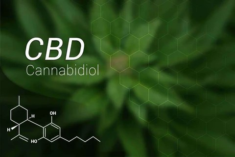 CBD chemical structure. What is CBD. CBD health benefits.