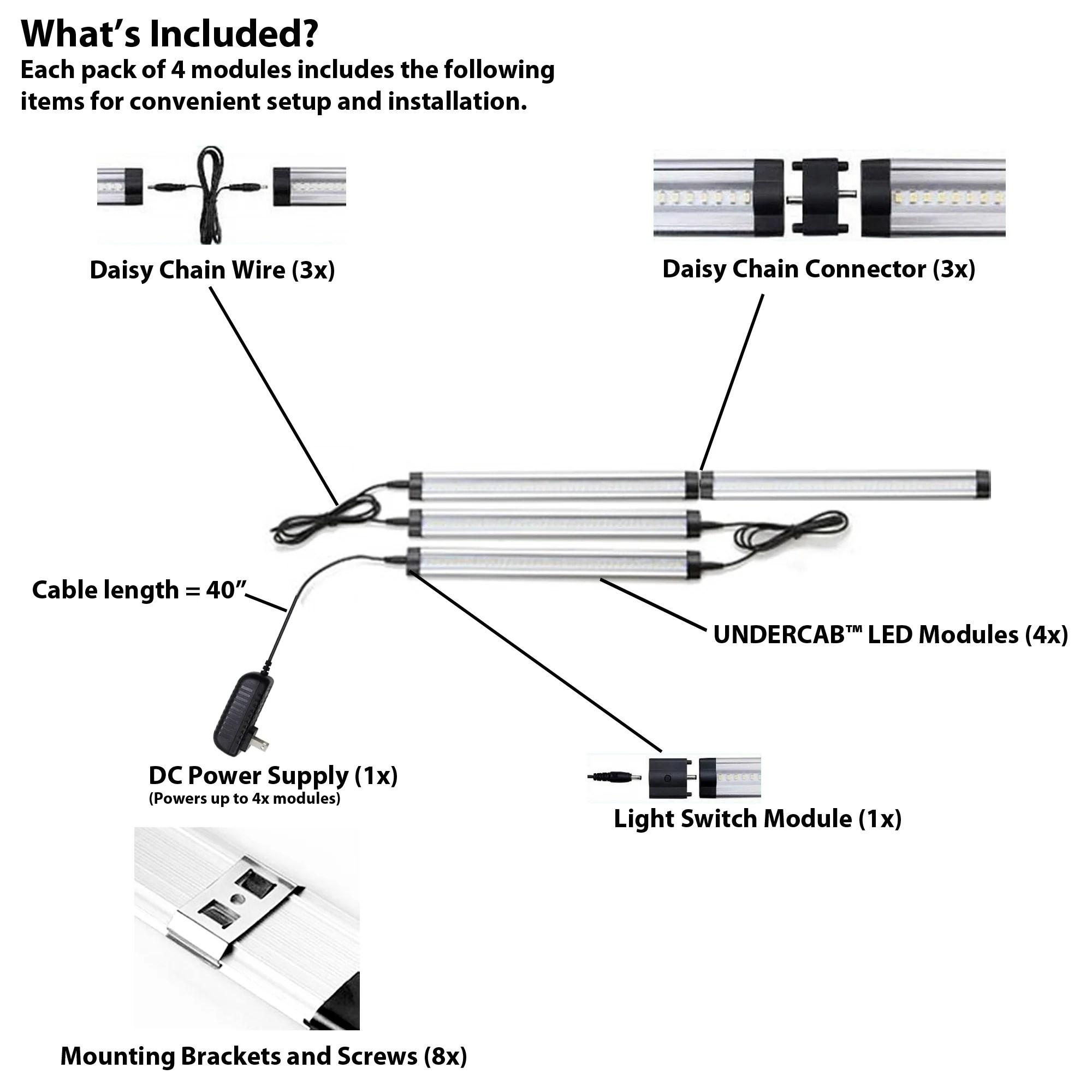 medium resolution of  undercab 95 cri led under cabinet light modules