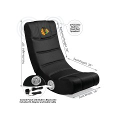 Chairs With Speakers Chair And Stool Set Imperial Gaming Racer Chicago Blackhawks Bluetooth Rocker
