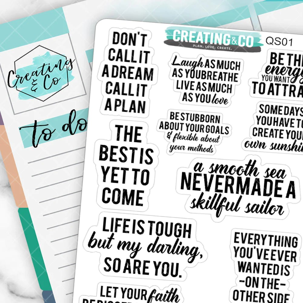 inspirational inspirational quote planner