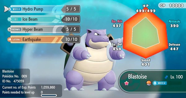 shiny blastoise pokemon let