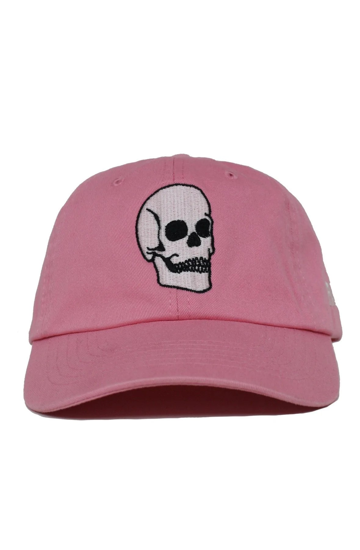 25193035e3721 Faded Pink Skull Dad Hat Faded Royalty