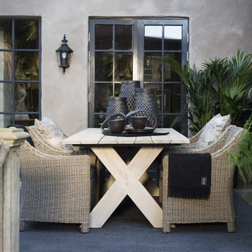 Artwood Cross Outdoor Dining Table Greenslades Furniture