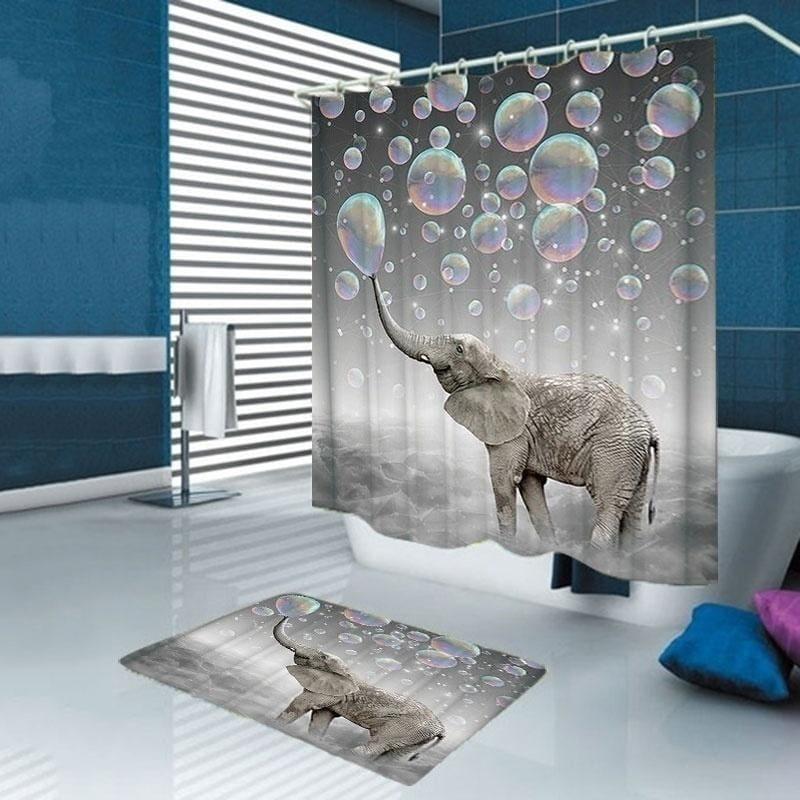 3d print elephant shower curtain fabric