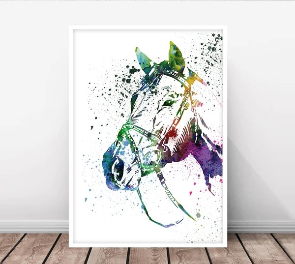 horse painting horse print