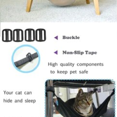 Cat Hammock Under Chair Brown Leather Chaise Lounge Practical Pals Plus If You Do Already Have A Bed Chances Are They Don T Use And Instead Sleep In The Box That It Came Easily
