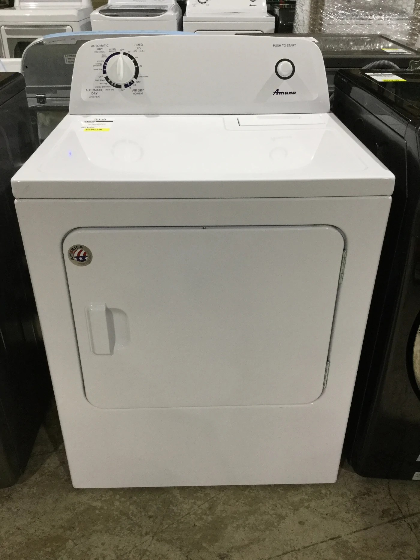amana ned4655ew 6 5 cu ft 240 volt white electric vented dryer [ 1400 x 1867 Pixel ]