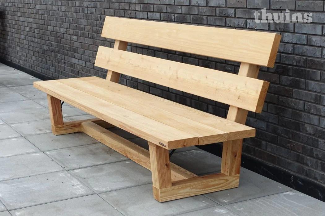 Loungebank Douglas hout Urban  Op maat gemaakt  2 weken