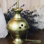 Matte Gold Hanging Incense Burner Rite Of Ritual