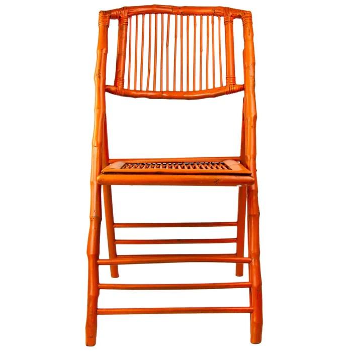 bamboo folding chair for office use orange maison midi
