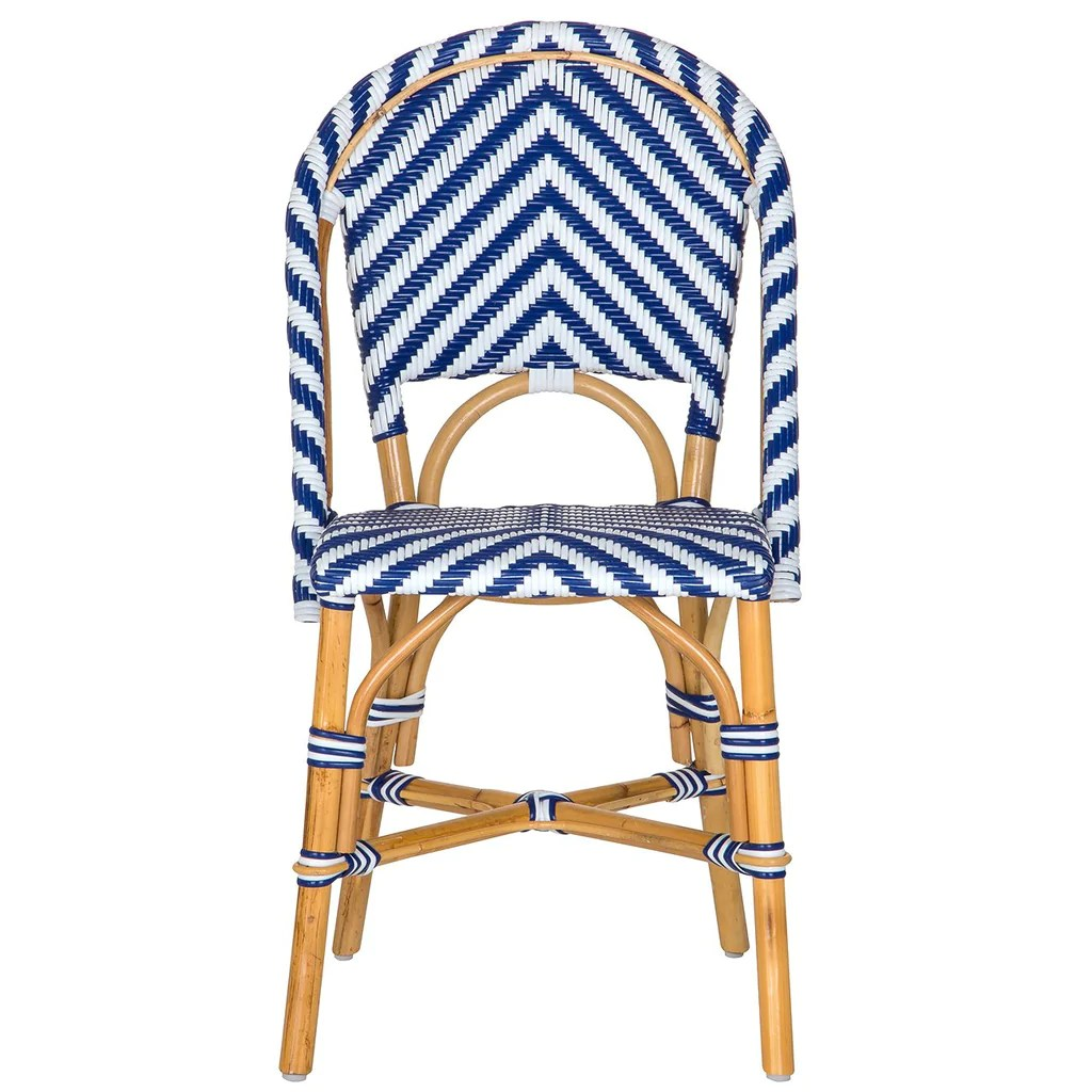 White Bistro Chairs White And Blue London Bistro Chair Chev