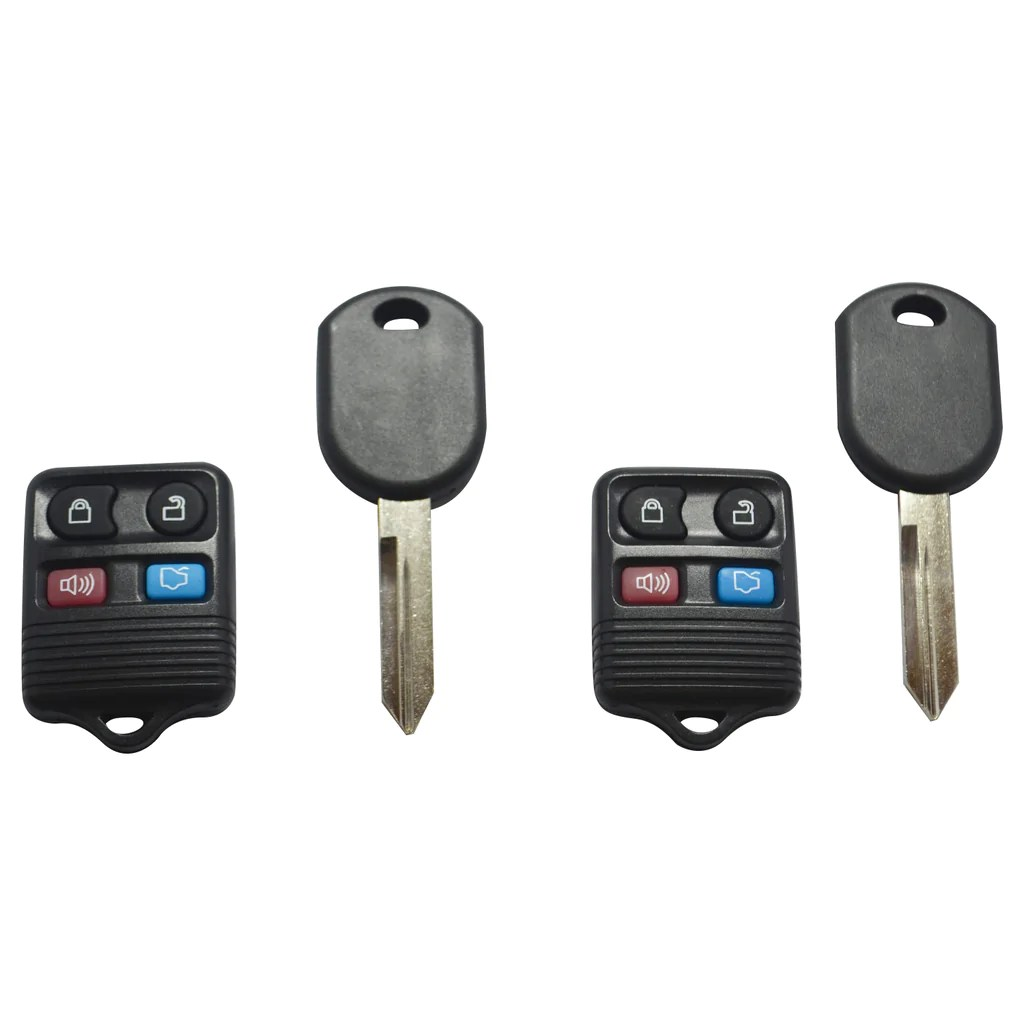 2 replacement keyless entry remote fob ignition transponder chip key for ford [ 1024 x 1024 Pixel ]