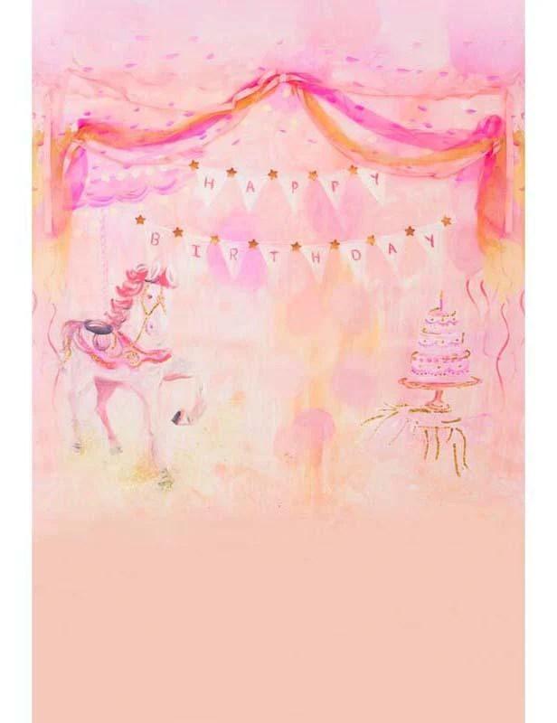 painted unicorn and cake